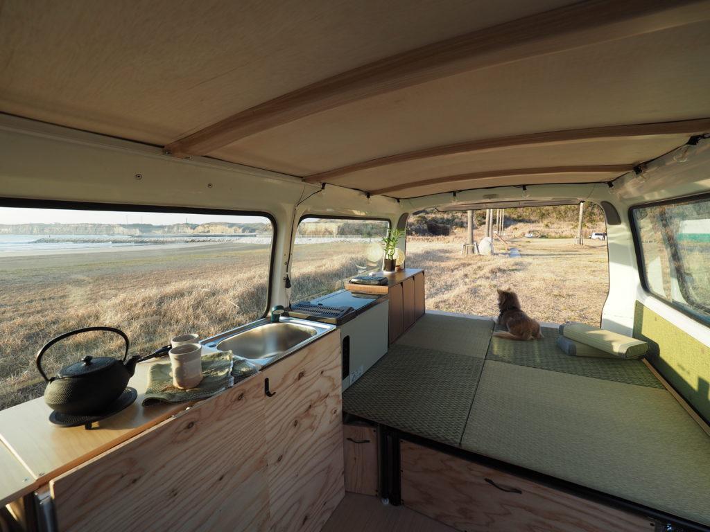 inside view of the camper van